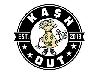 Kash out  logo design