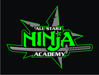 All Starz Ninja Academy logo design