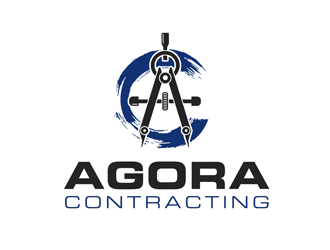 Agora Contracting logo design