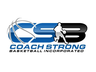 coach strong basketball incorporated logo design