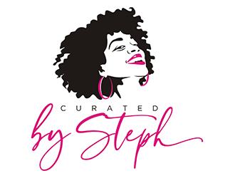 CuratedBySteph logo design