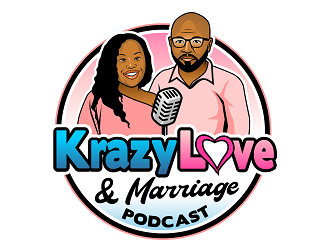 Krazy Love And Marriage Podcast logo design