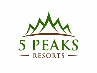 5 Peaks Resort logo design