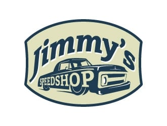 Jimmy's Speed Shop logo design