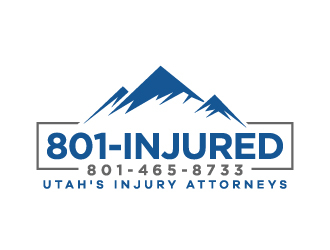 801-INJURED logo design