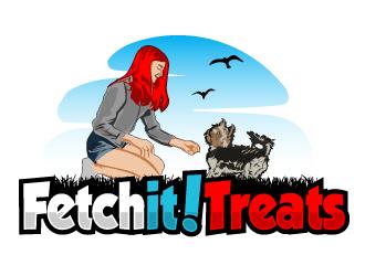 Fetch it! Treats logo design