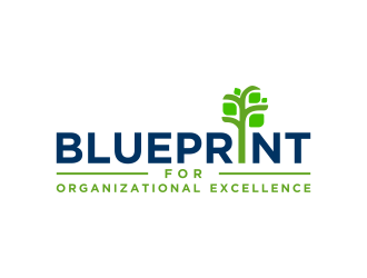 Blueprint for Organizational Excellence logo design