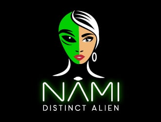 NAMI Distinct Alien logo design