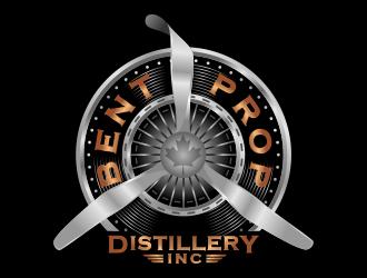 Bent Prop Distillery Inc. logo design