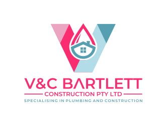 V and C Bartlett Construction Pty Ltd logo design