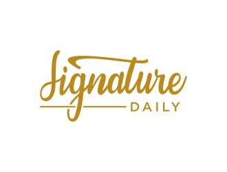 Signature Daily logo design by Kanya