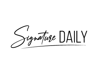 Signature Daily logo design by BrainStorming