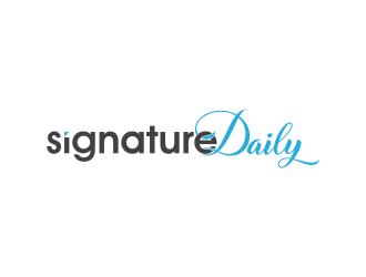 Signature Daily logo design by pakderisher