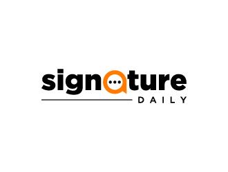 Signature Daily logo design by wongndeso
