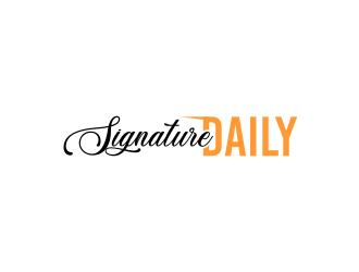 Signature Daily logo design by zonpipo1