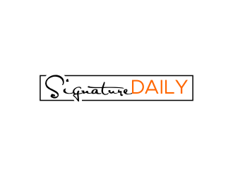 Signature Daily logo design by done