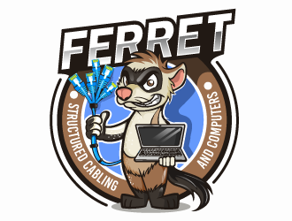 Ferret Structured Cabling and Computers logo design