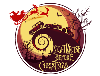 Nightkruise Before Christmas logo design