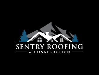 Sentry Roofing & Construction logo design