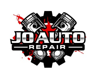 jo auto repair logo design