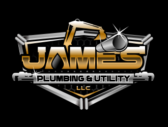 James Plumbing & Utility LLC logo design