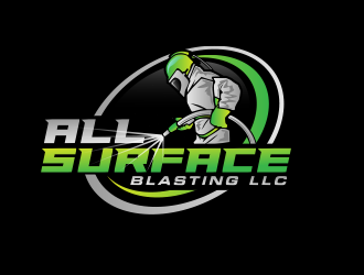 All Surface Blasting LLC logo design