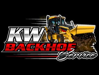 KW Backhoe Service logo design
