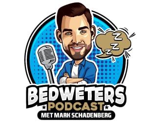 Bedweters Podcast Met Mark Schadenberg logo design
