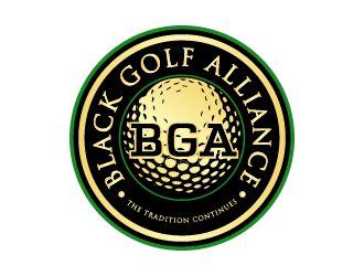 Black Golf Alliance logo design