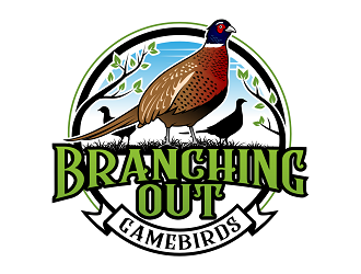 Branching Out...gamebirds/farm logo design