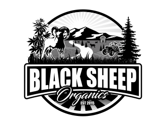 black sheep organics logo design