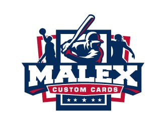 Malex Custom Cards logo design