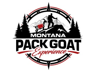 Montana Pack Goat Experience  logo design
