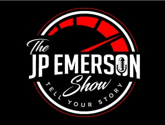 JP Emerson   Logo can be found at jpemerson.com.  It is a speedometer, colors are red and black logo design