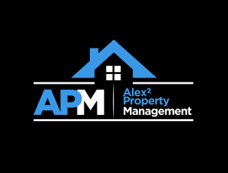 Alex² Property Management logo design