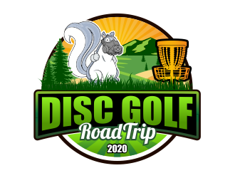 Disc Golf Road Trip logo design
