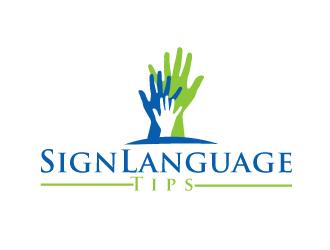 SignLanguageTips logo design
