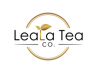LeaLa Tea Co. logo design
