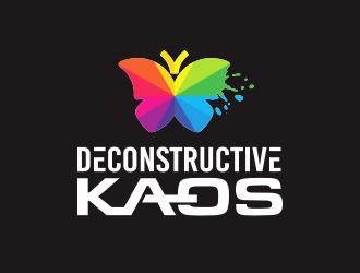 Deconstructive kaos logo design