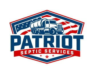 Patriot Septic Services logo design