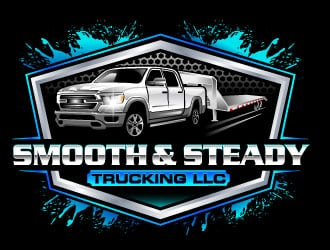 Smooth & Steady Trucking LLC logo design