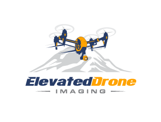 Elevated Drone Imaging  logo design