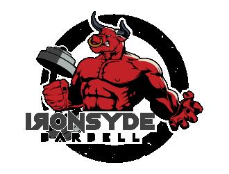 IRONSYDE Barbell logo design winner