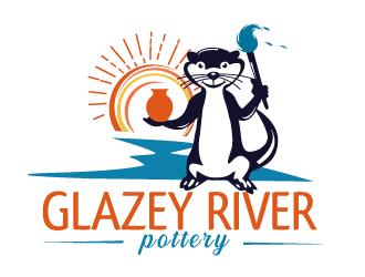 GLAZEY RIVER POTTERY logo design by bloomgirrl