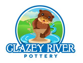 GLAZEY RIVER POTTERY logo design by Roma