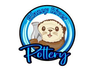 GLAZEY RIVER POTTERY logo design by Dhieko