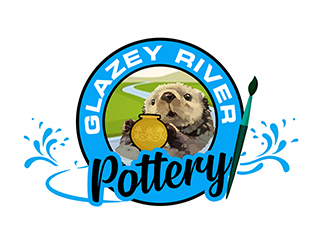 GLAZEY RIVER POTTERY logo design by PrimalGraphics