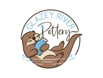 GLAZEY RIVER POTTERY logo design by brandshark