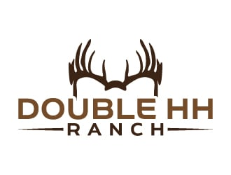 Double HH Ranch logo design