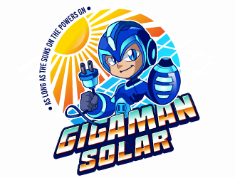 The GigaMan Solar  logo design